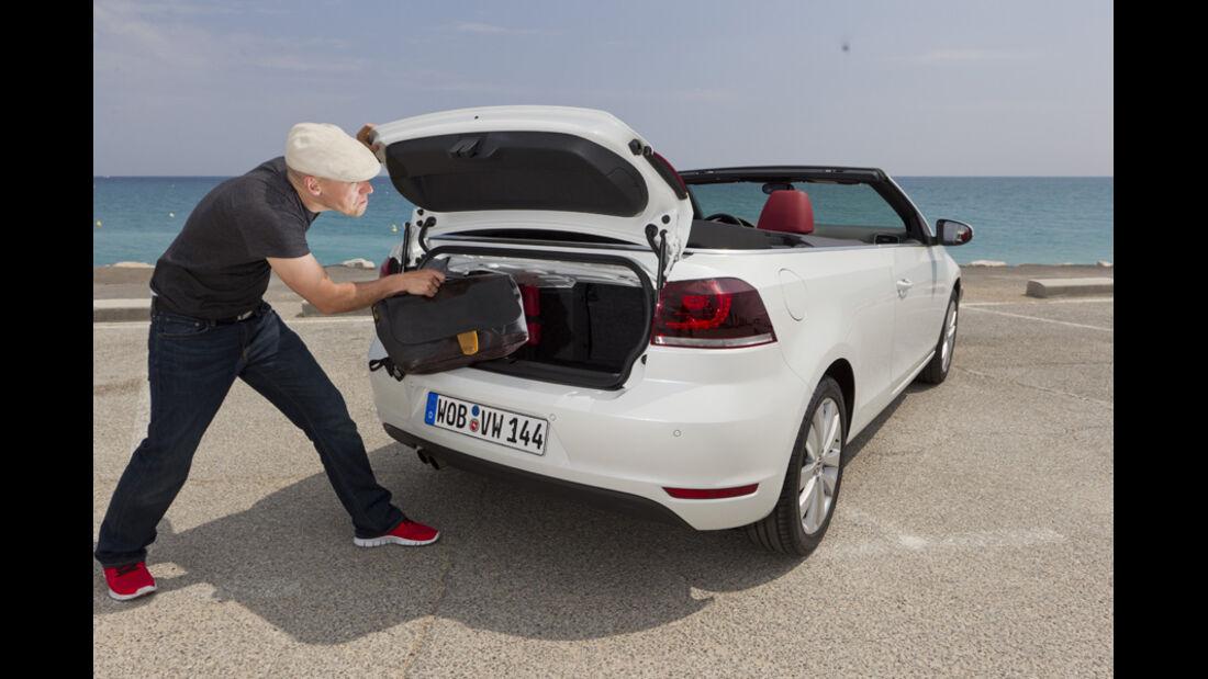 VW Golf Cabrio, Kofferraum, beim Laden
