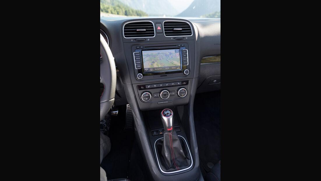VW Golf Cabrio, Mittelkonsole