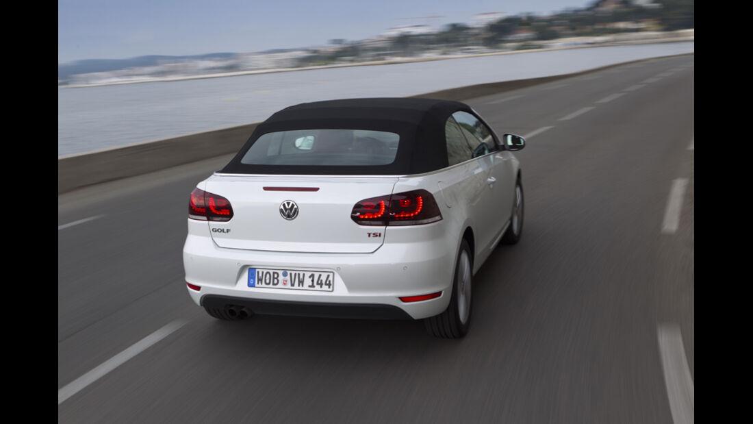 VW Golf Cabrio, Rückansicht, geschlossen