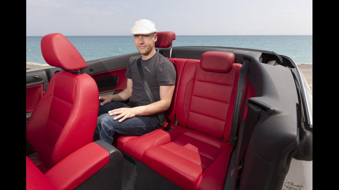 VW Golf Cabrio, Rücksitz, Dani Heyne