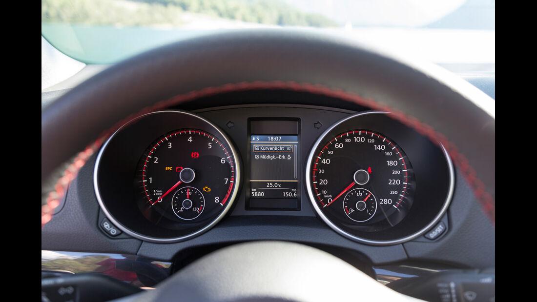 VW Golf Cabrio, Rundinstrumente