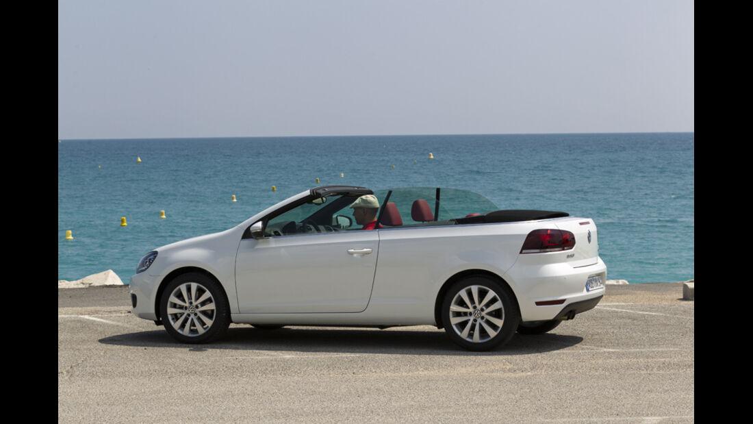 VW Golf Cabrio, Seitenansicht, Dach schließt, Serie2