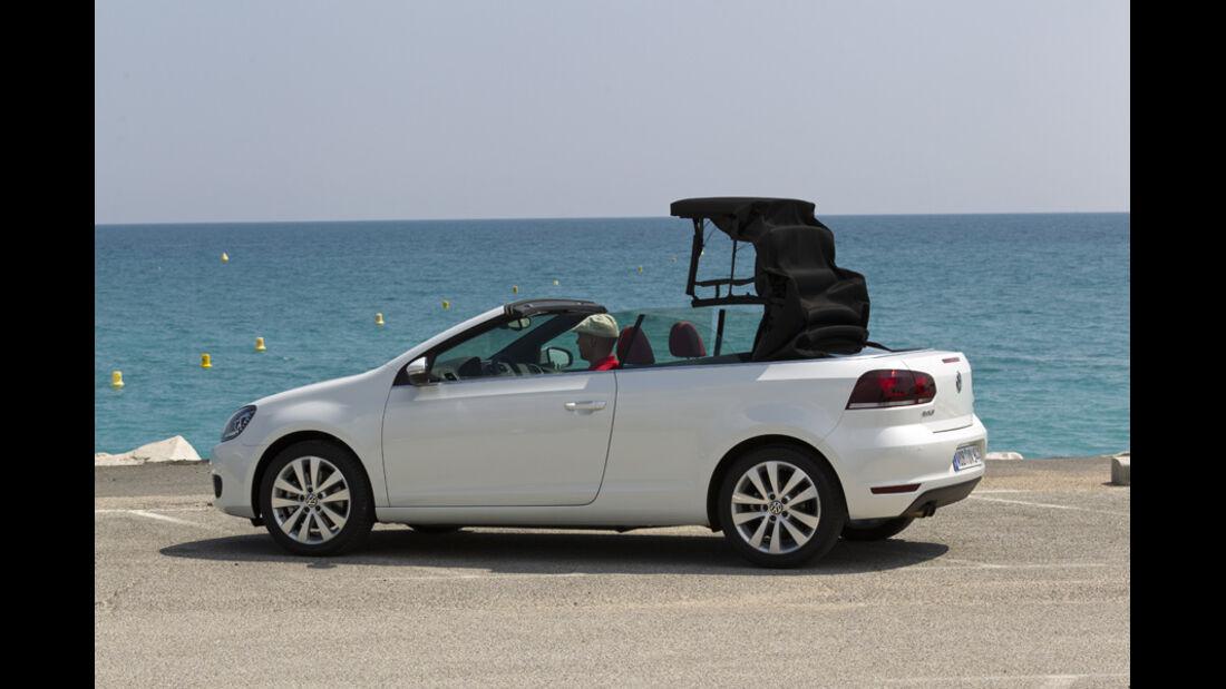 VW Golf Cabrio, Seitenansicht, Dach schließt, Serie4