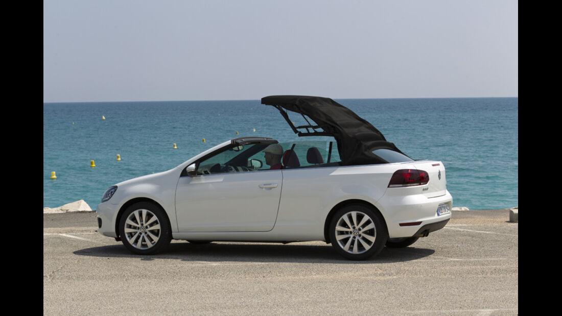 VW Golf Cabrio, Seitenansicht, Dach schließt, Serie5