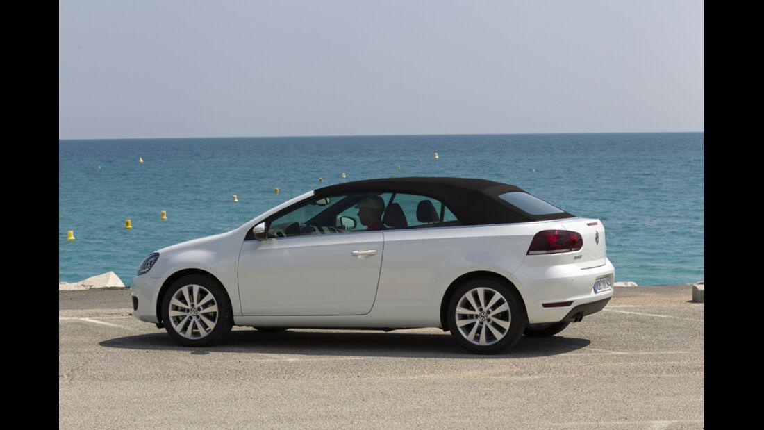 VW Golf Cabrio, Seitenansicht, Dach schließt, Serie6, geschlossen
