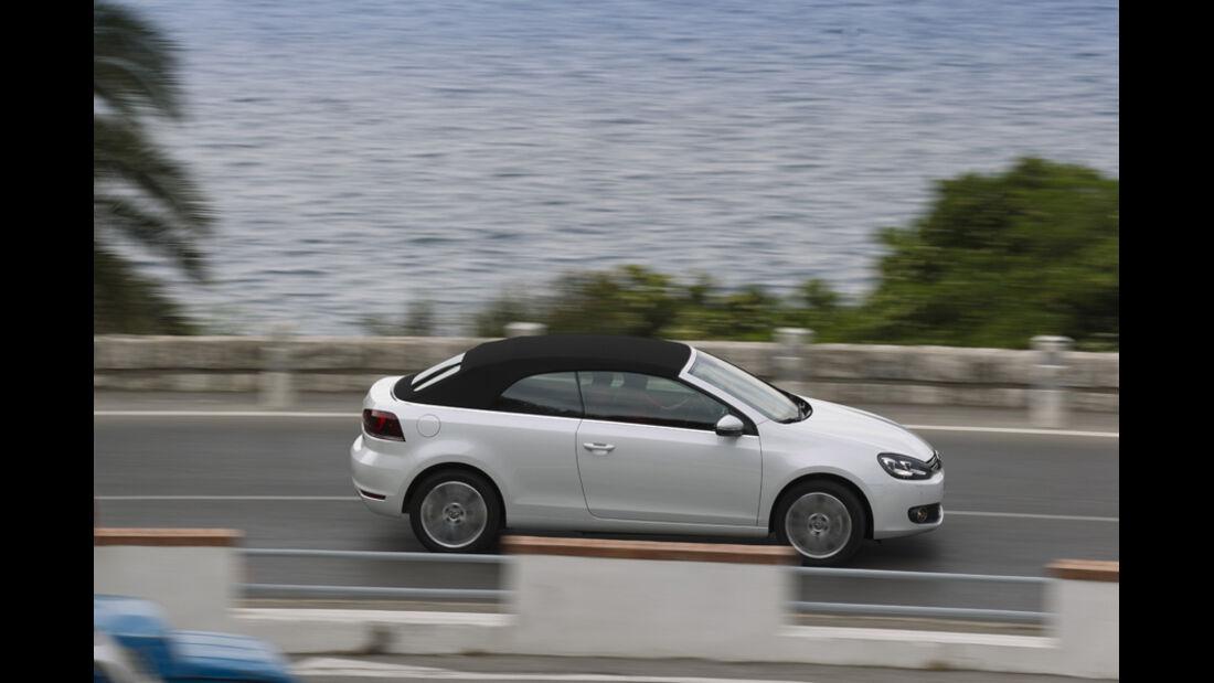 VW Golf Cabrio, Seitenansicht, Straßenfahrt, geschlossen