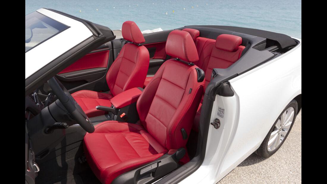 VW Golf Cabrio, Sitze, offen, Detail