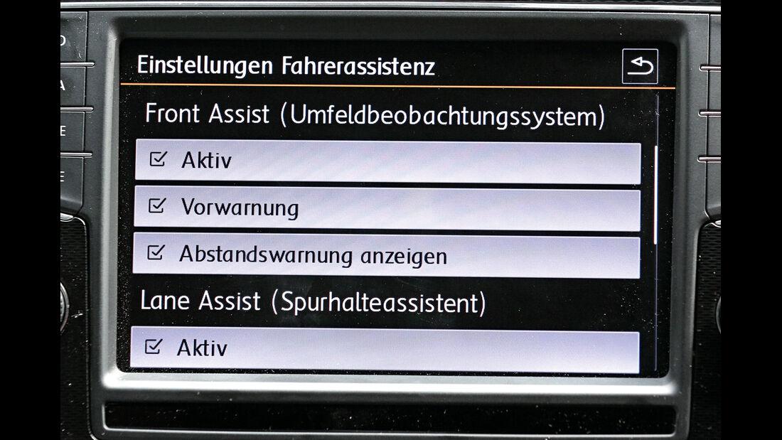 VW Golf, Display