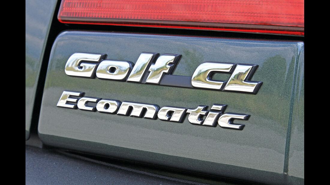 VW Golf Ecomatic, Typenbezeichnung