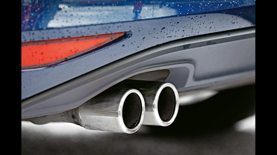 VW Golf GTD, Auspuff, Endrohre
