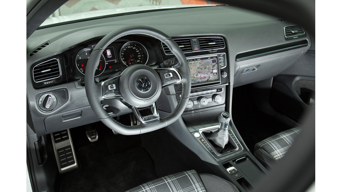 VW Golf GTD, Cockpit, Lenkrad