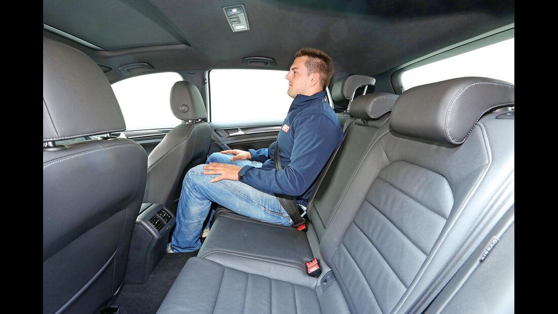 VW Golf GTD, Fondsitz, Beinfreiheit