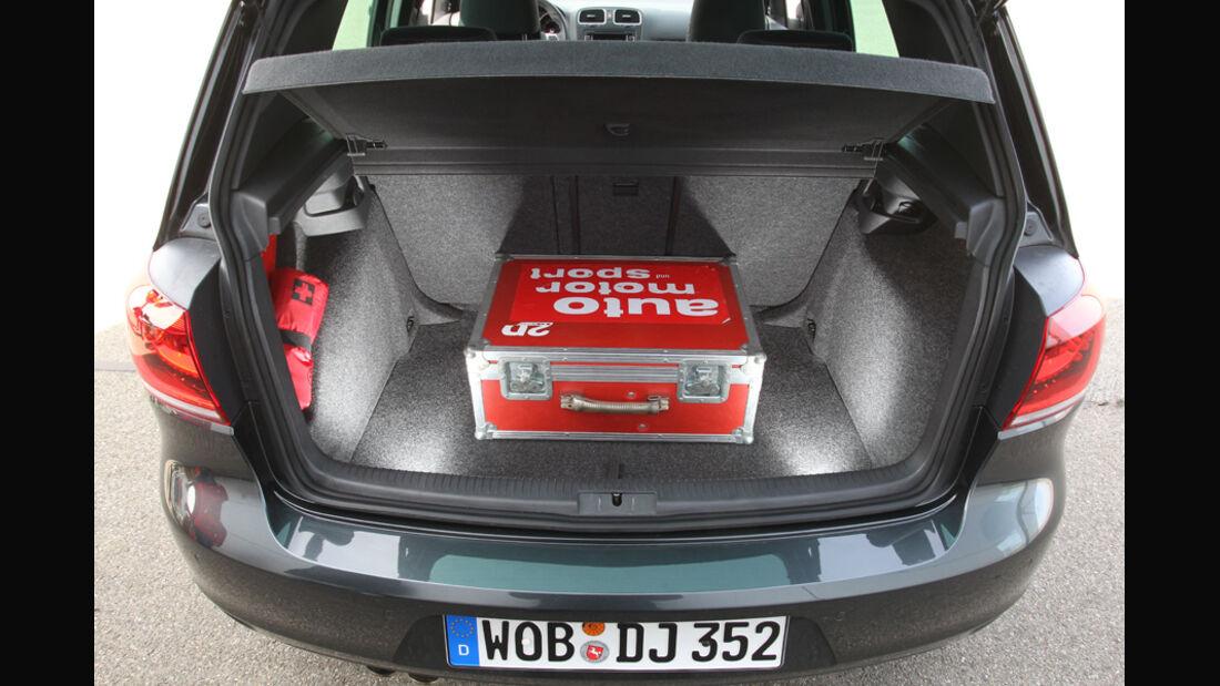 VW Golf GTD, Kofferraum