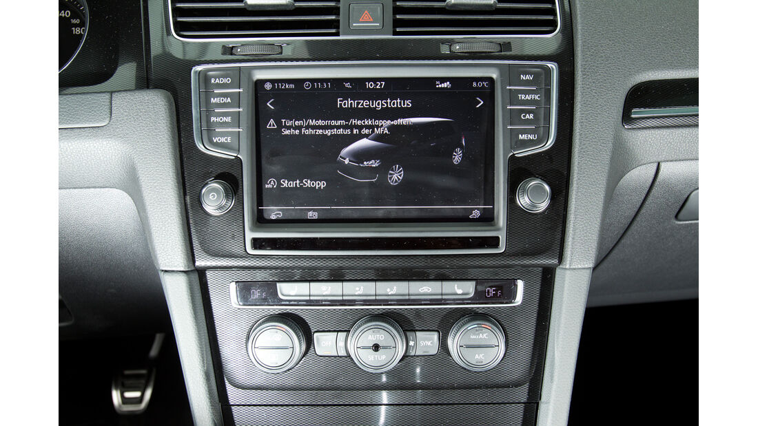 VW Golf GTD, Mittelkonsole