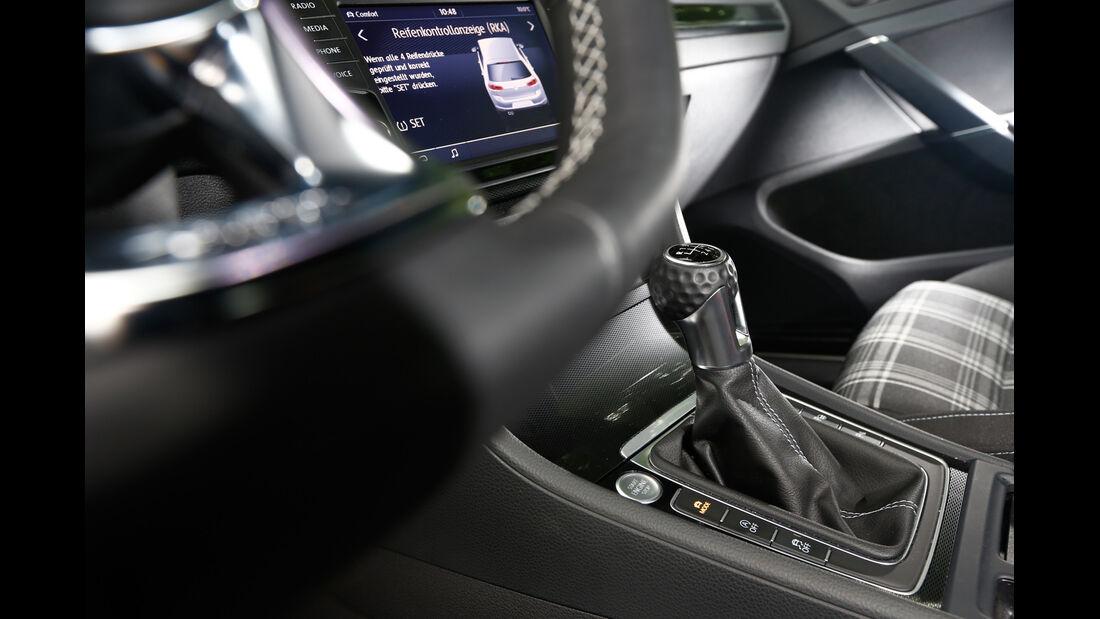 VW Golf GTD, Schalthebel