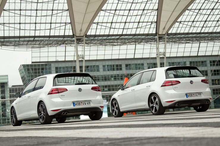 VW Golf GTD, VW Golf GTI, Heckansicht