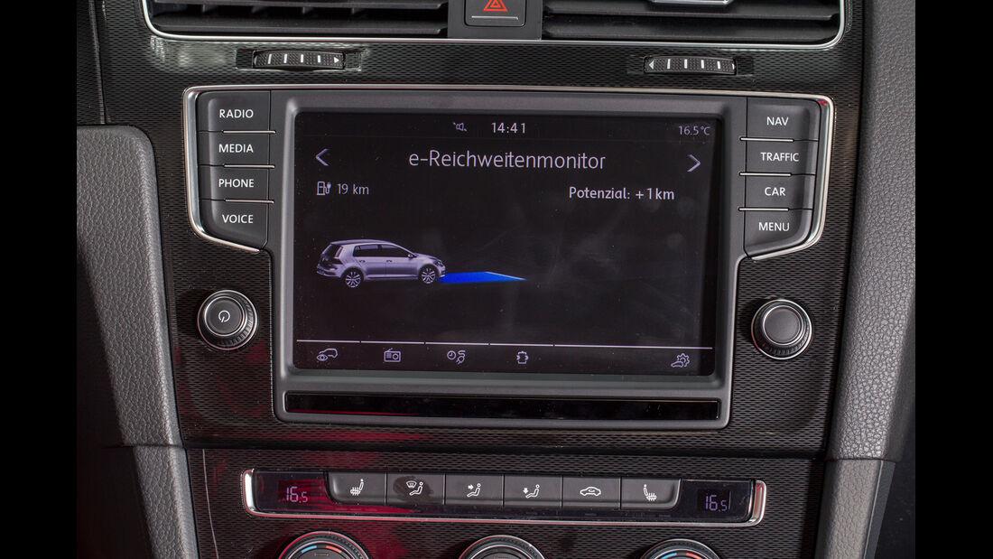VW Golf GTE, Bildschirm, Anzeige