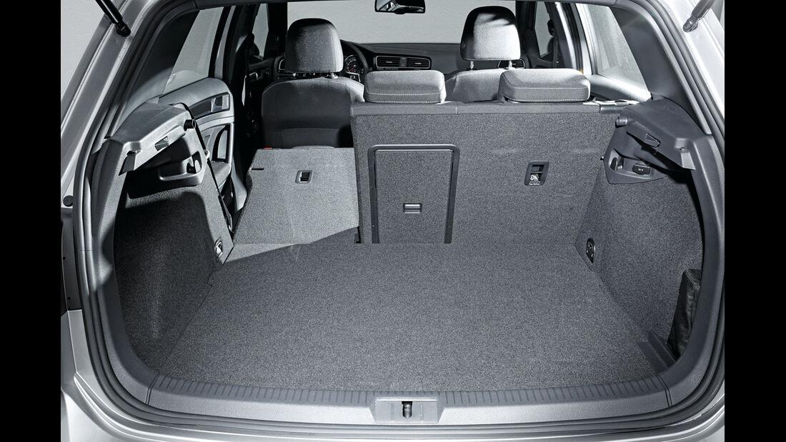 VW Golf GTE, Kofferraum