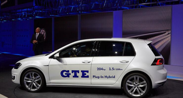VW Golf GTE Plug-In Hybrid, Genfer Autosalon, Messe 2014