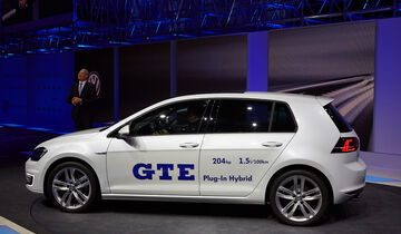 VW Golf GTE Plug-In Hybrid, Genfer Autosalon, Messe 2014