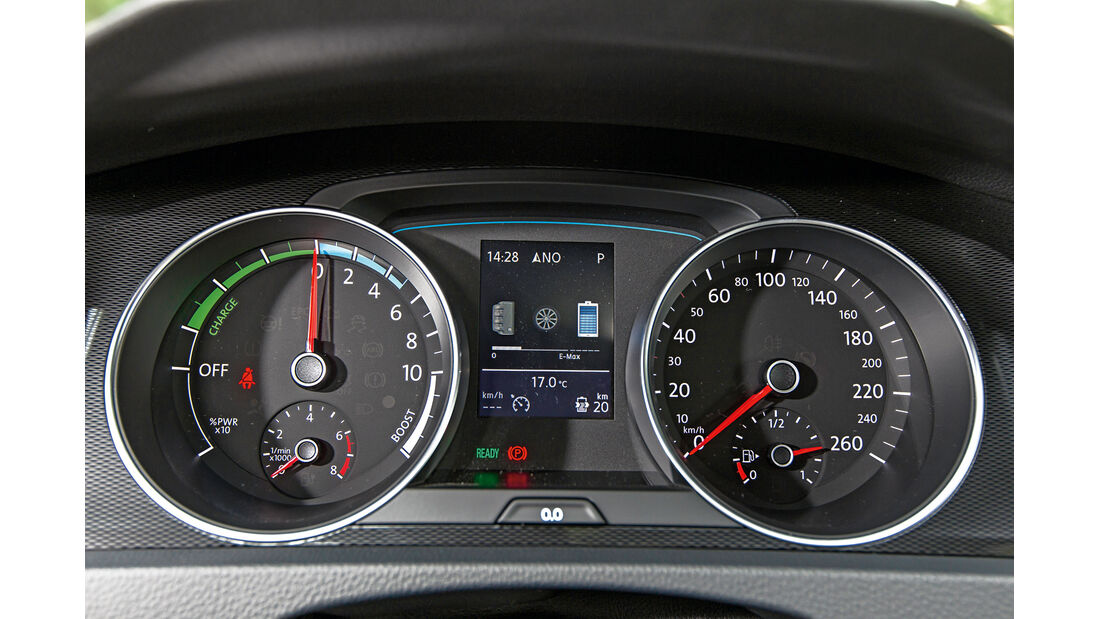 VW Golf GTE, Rundinstrumente