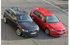 VW Golf GTI 2.0 TDI, Audi A3 Sportback 2.0 TDI, Seitenansicht