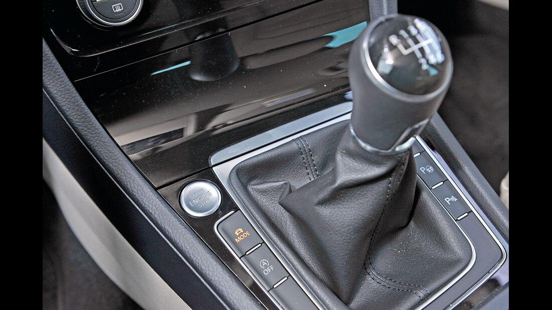 VW Golf GTI 2.0 TDI, Schalthebel, Schaltknauf