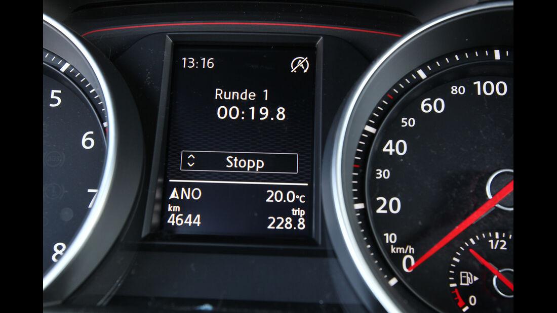 VW Golf GTI, Bordcomputer, Rundenzeit