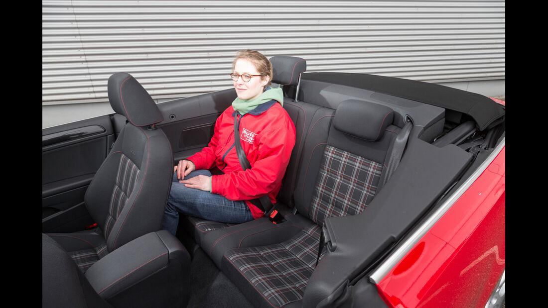 VW Golf GTI Cabrio,  Fondsitz, Beinfreiheit
