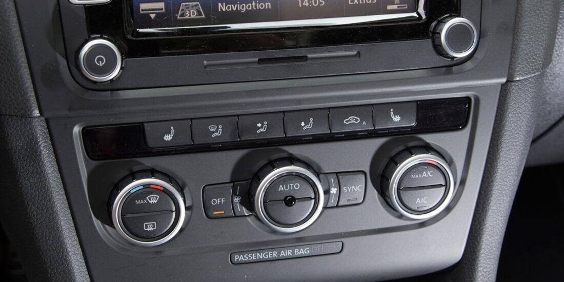 VW Golf GTI Cabrio, Mittelkonsole