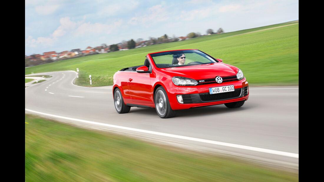 VW Golf GTI Cabriolet, Frontansicht, offen