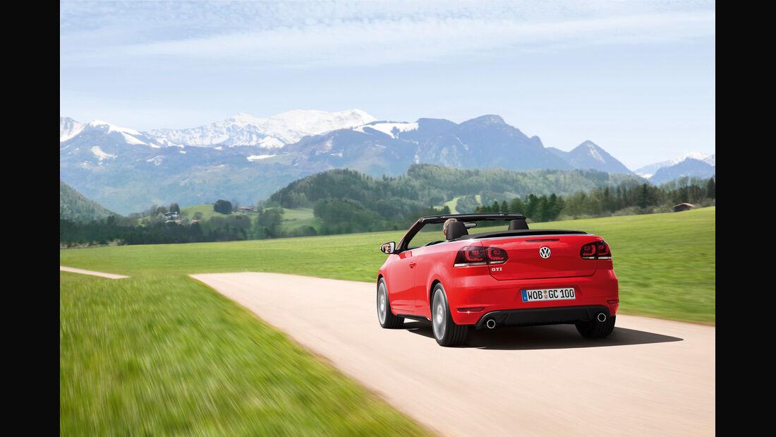 VW Golf GTI Cabriolet, Heck, offen