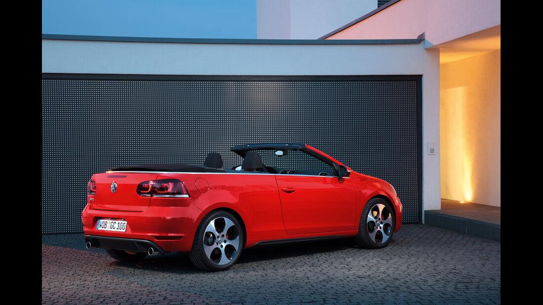 VW Golf GTI Cabriolet, Seitenansicht, offen