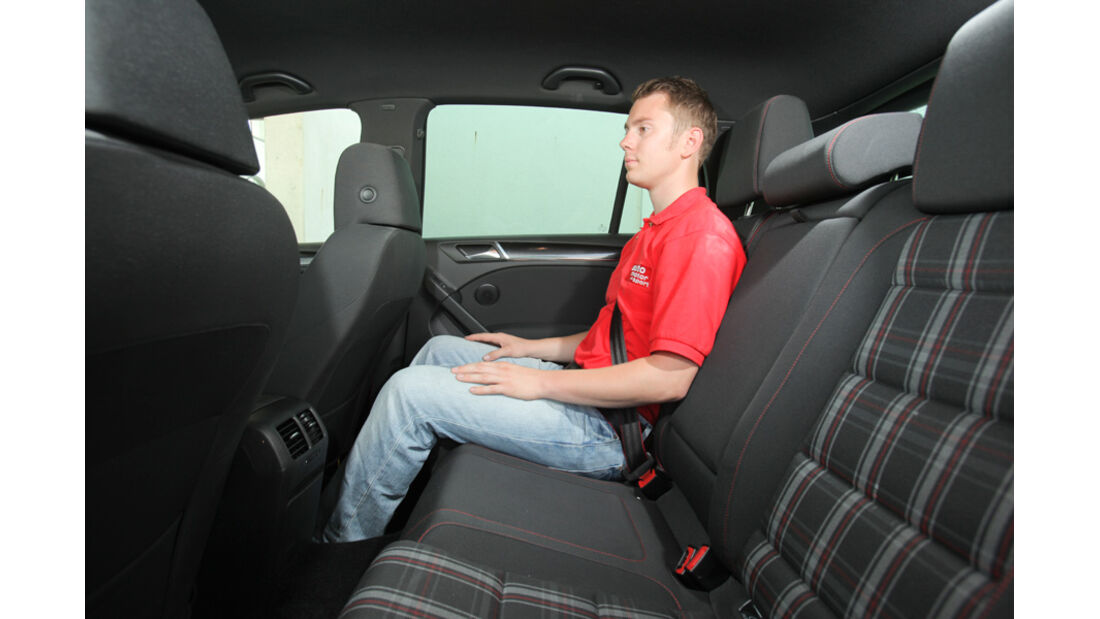 VW Golf GTI Edition 35, Rücksitze, Rückbank