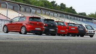 VW Golf GTI, Generationen, Gruppe, Heck, hinten