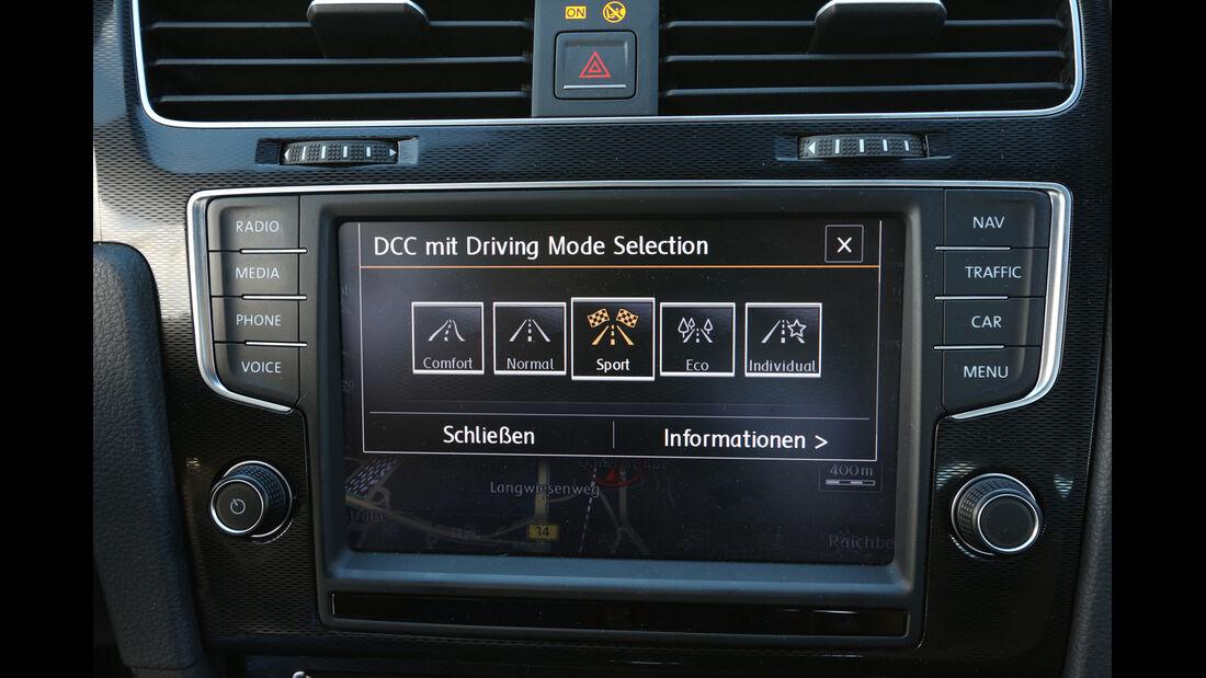 VW Golf GTI, Navi, Bildschirm