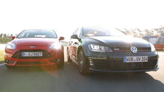 VW Golf GTI Performance, Ford Focus ST, Frontansicht