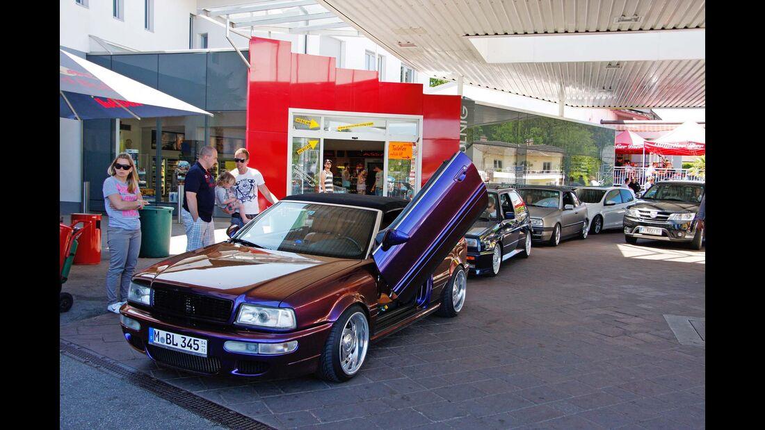 VW Golf GTI Tankstelle