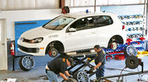 VW Golf GTI, Werkstatt, Reifenwechsel