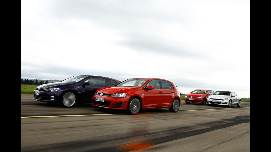 VW Golf GTI vs. GTD und Scirocco TSI vs.TDI