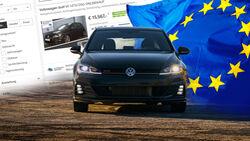 VW Golf Gebrauchtwagen Europa 2020