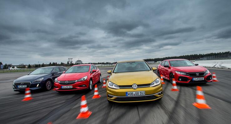 VW Golf, Honda Civic, Hyundai i30, Opel Astra