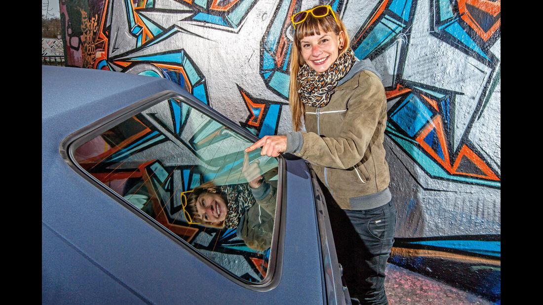 VW Golf I Cabriolet, Heckscheibe, Anna Matuschek