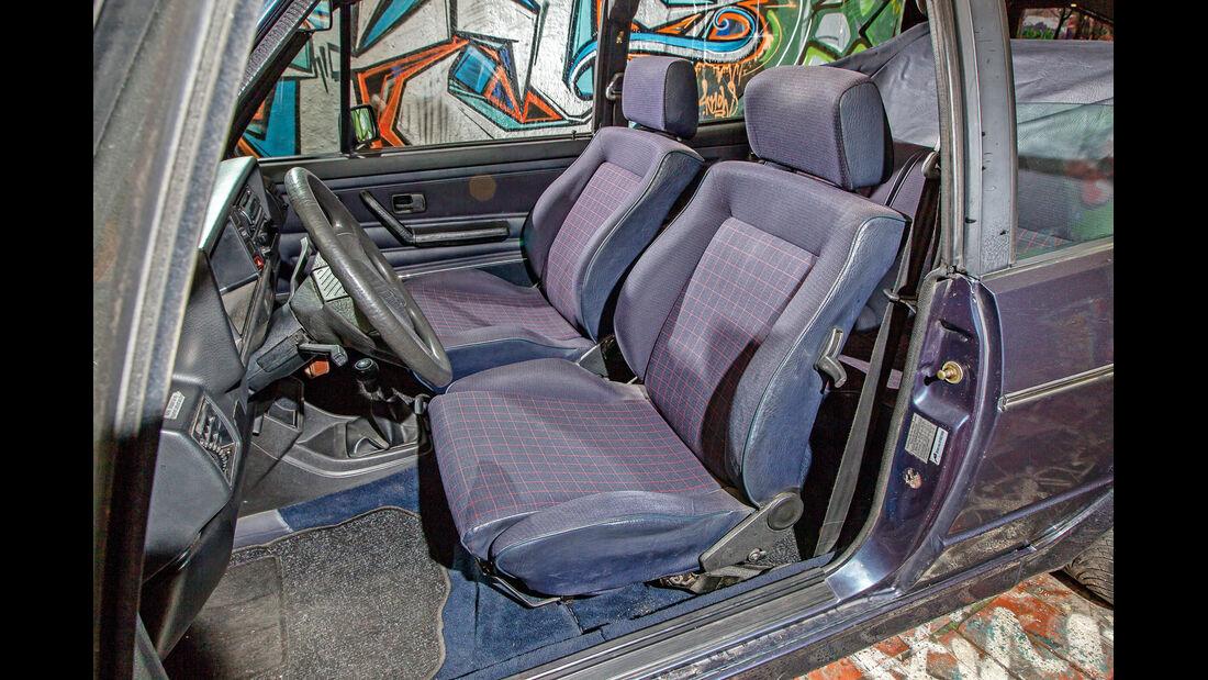VW Golf I Cabriolet, Innenraum