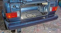 VW Golf I Cabriolet, Kofferraum