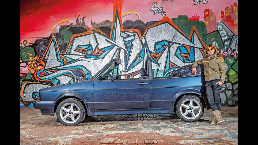 VW Golf I Cabriolet, Seitenansicht