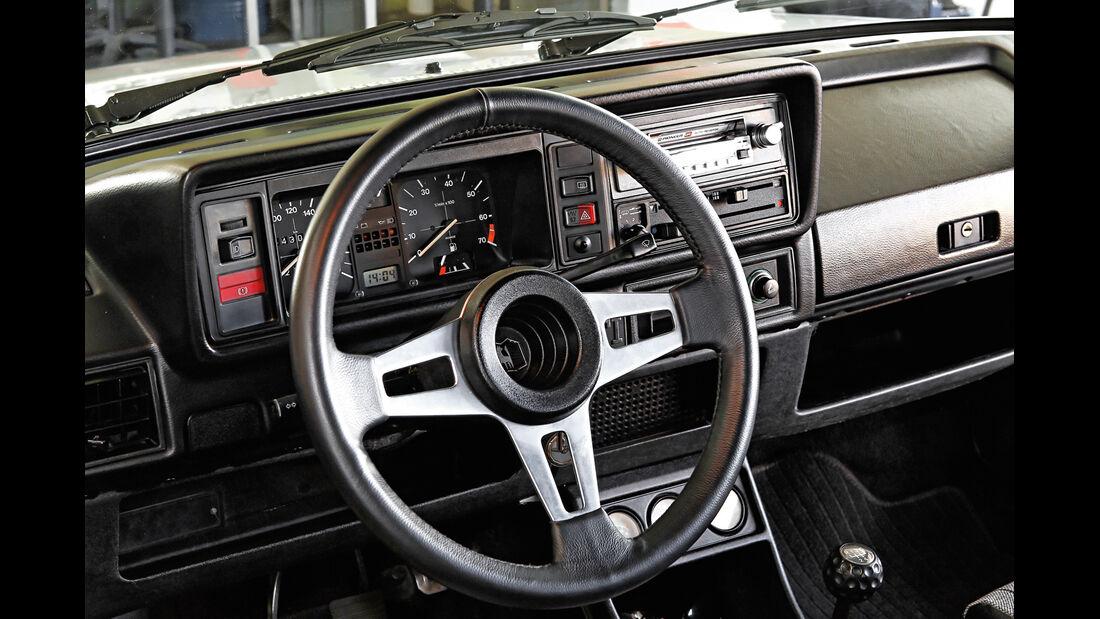 VW Golf I GTI, Cockpit, Lenkrad