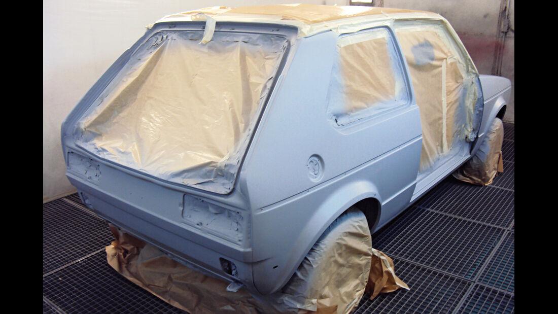 VW Golf I GTI, Lackieren