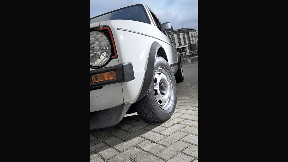 VW Golf I GTI, Vorderrad