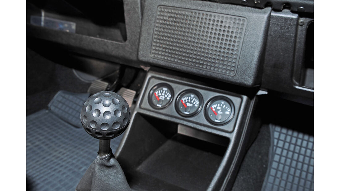 VW Golf I LX, Ganghebel